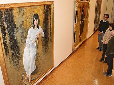 藤森兼明さんの画業たどる 砺波市庄川美術館