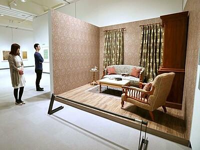 英19世紀の意匠 長岡・近代美術館で壁紙展始まる