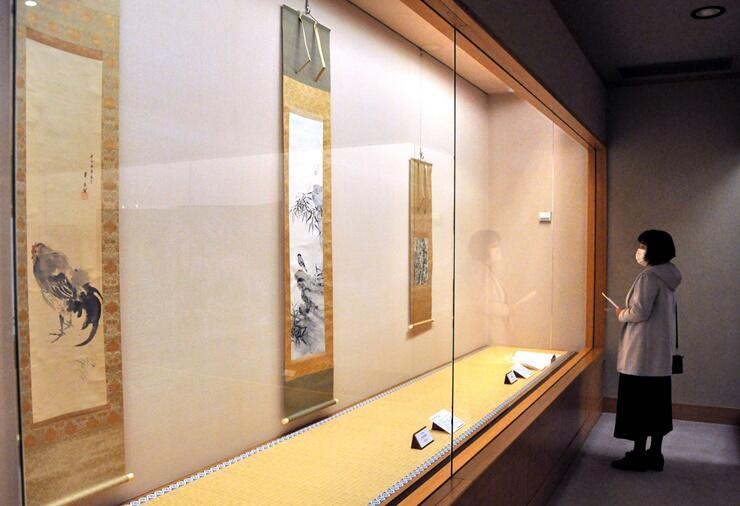 村上華岳の作品を集めた展覧会=長岡市の駒形十吉記念美術館
