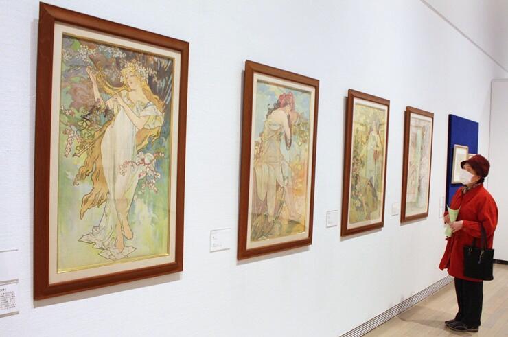ミュシャの側面も知ることができる作品展「ミュシャ展 美しきアール・ヌーヴォーの華」=新潟市秋葉区の新津美術館