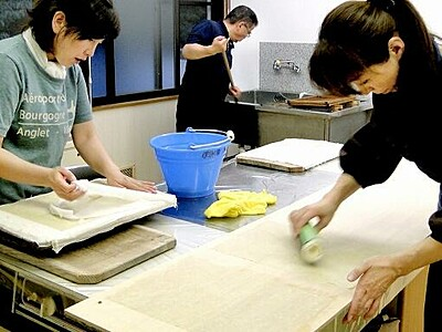 穴馬紙と奥越太鼓を「おおの遺産」に 福井県大野市