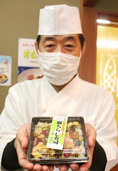 「コロナ蹴ちらし寿司」を考案した山浦さん