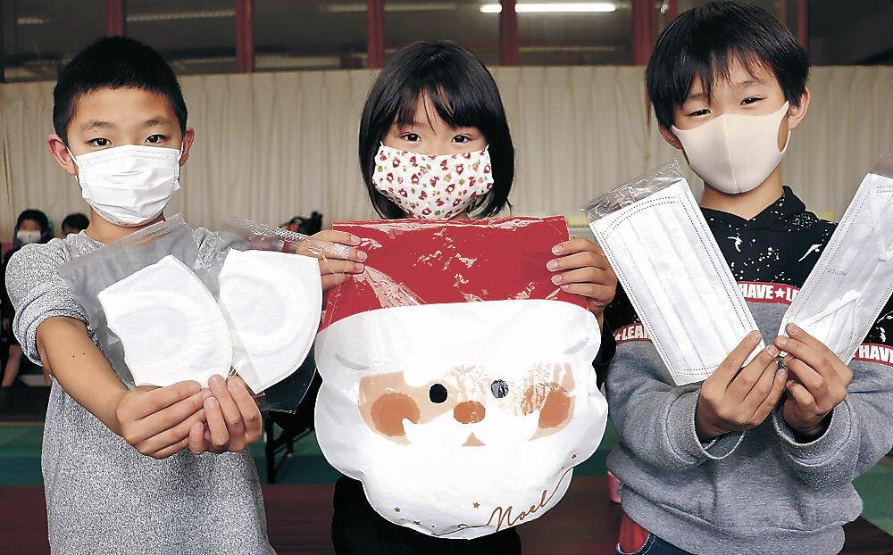 匿名で届いたマスク=七尾市の朝日放課後児童クラブ