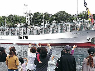 小木の船団 北太平洋へ、アカイカ出漁