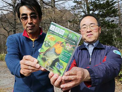 上高地の野鳥、DVDで発信 40種撮影、巣立ちシーンも