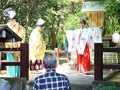 平安祈り末広の舞 高岡・二上山の悪王子社で春祭り