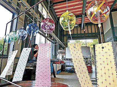 能登島の風鈴 ガラス工房で生産最盛期