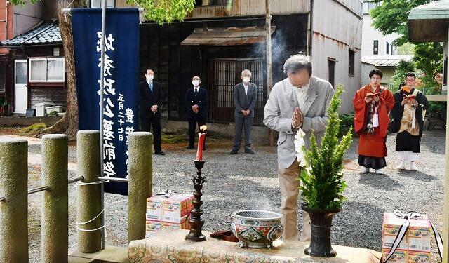 堀秀政の命日法要=5月27日、福井県福井市の長慶寺