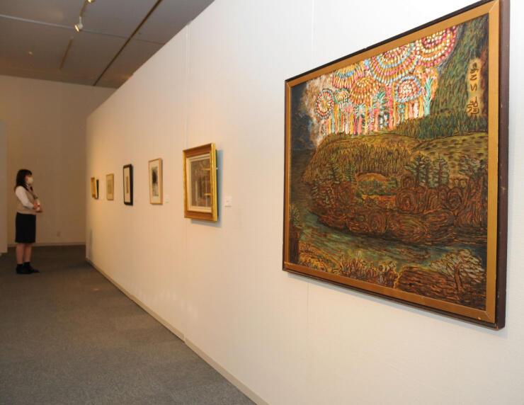 梅野記念絵画館で再開初日に始まった収蔵品展