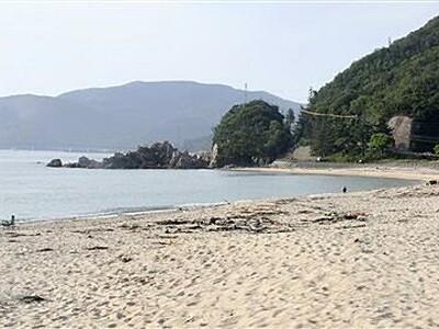 水晶浜など海開き中止 福井県美浜町の5カ所