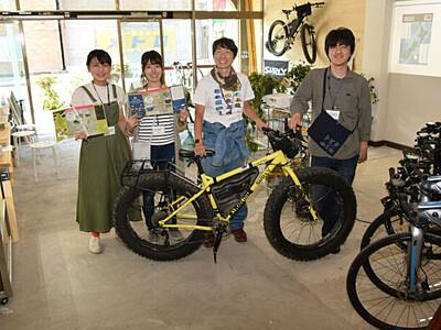 自転車で辰野観光、拠点設置 空き店舗を活用