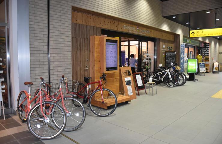 レンタサイクル事業を行っている信越自然郷アクティビティセンター