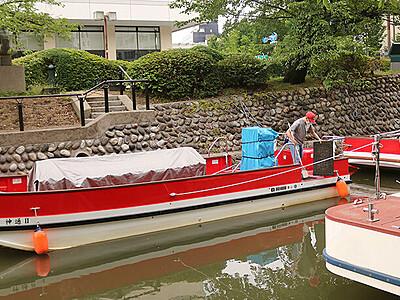 松川の景色楽しんで 観光遊覧船20日から再開