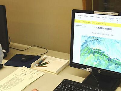 山城の鳥瞰図、県立歴史館がデジタル化 岡谷の宮坂さん寄贈