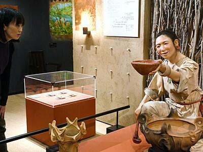 縄文人が目の前に 御代田のミュージアム 精巧な模型展示