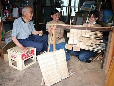 白峰の民芸品、若者に伝授 尾田さん、4年にわたり