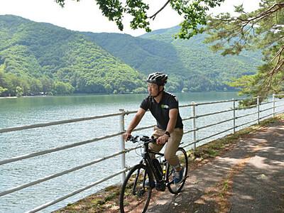 夏秋の大町、電動自転車で体感 7月からガイドツアー
