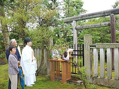 「悲劇の皇子」しのぶ 高岡で恒性皇子慰霊祭