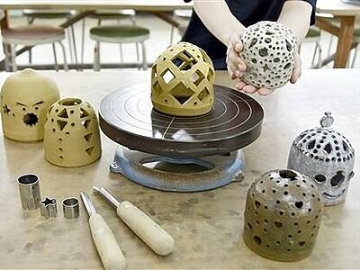 陶あかりをみんなで作ろう 福井県陶芸館7月1日から体験