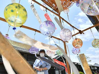 海野宿彩る夏の音色 東御に風鈴屋台