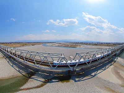 360度VR景色体験を あいの風観光列車