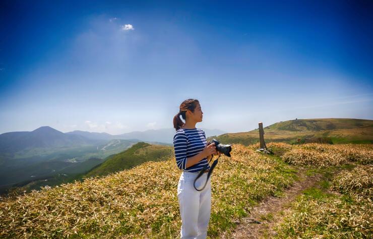 SNS映えする写真を撮ってもらうツアーを計画している大笹峰(信州・長和町 観協景美隊提供)
