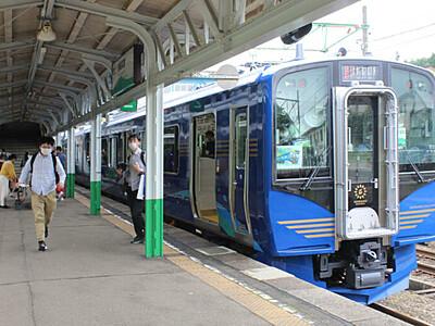 新津製 新型電車デビュー しなの鉄道・妙高高原―軽井沢
