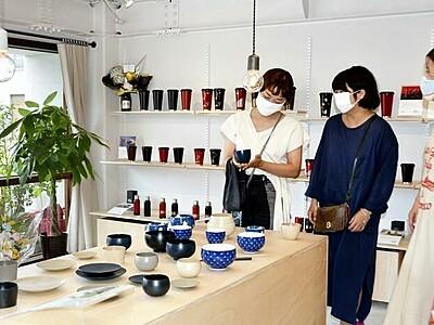 漆器の魅力、産地で感じて 鯖江の直営店で限定品販売
