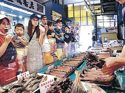 ドジョウのかば焼き、香ばしく 近江町市場