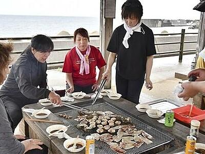 海眺めて手ぶらでBBQ 肉や魚介、消毒液も用意