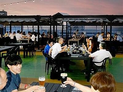 新様式で夏の一杯 西武福井店ビアガーデン開業
