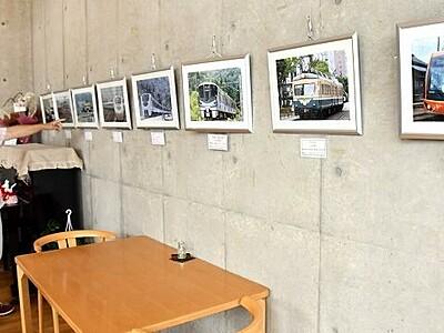 福井走った列車捉える 鯖江の愛好家が写真展
