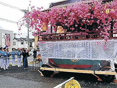 輪島の重蔵神社で曳山祭