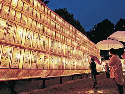 追悼の灯、石川護国神社照らす 万灯みたままつり
