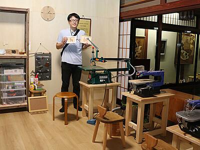 木象嵌の体験施設完成 小杉の家具店内、CFで資金集め実現