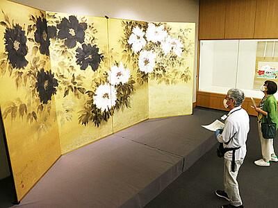 自然や風土の美伝える 富山県水墨美術館で「山中暦日」展
