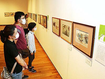 旅気分で浮世絵楽しむ 高岡市美術館で歌川広重展