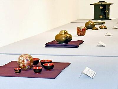 天心テーマに漆芸品 西武福井店、石川の職人集団が展示