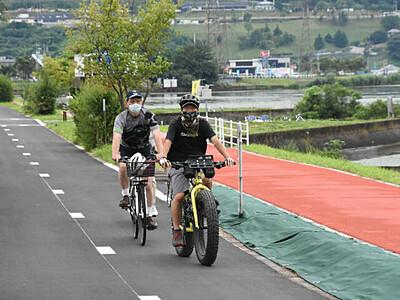諏訪湖一周へ一部開通 自転車専用、諏訪市内1910メートルに