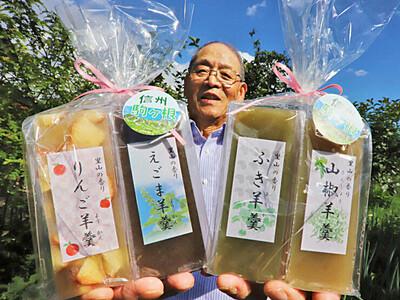 変わり種ようかん4種類 駒ケ根の寺沢さん地元食材で