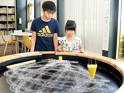 振り子が描く幾何学模様 富山市科学博物館