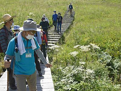入笠山で自然を堪能 花や地形、理解深めるツアー