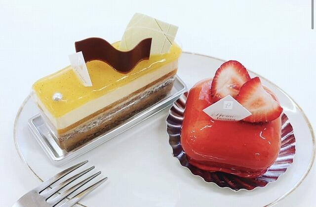 福井県敦賀市にある洋菓子店「パティスリープルミエ」のケーキ