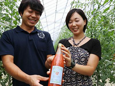 根羽産トマトのジュース「金賞」 甘さしっかり、後味すっきり