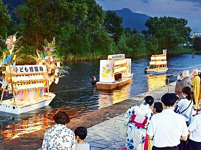 先祖供養の心、燈籠舟に 永平寺町