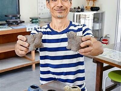 動物形の植木鉢を越前焼で 9月6日、福井県陶芸館で体験教室