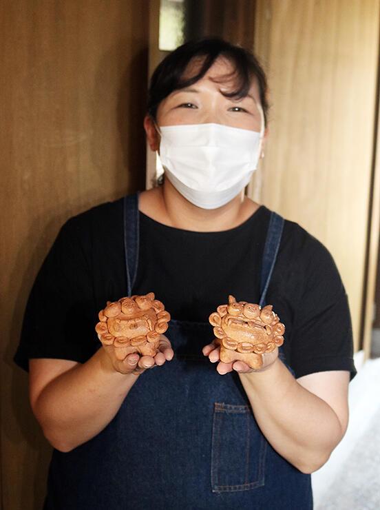 9月5、6日のシーサー作りの参加を呼び掛ける松田さん