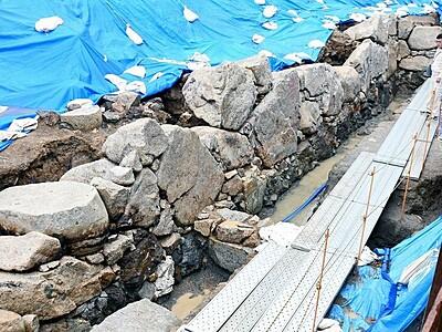 京極時代の石垣初確認 小浜城跡で福井県が発掘調査