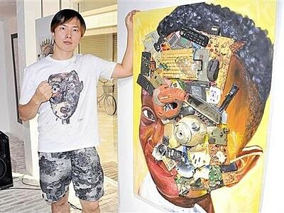 ガーナの廃棄物でアート MAGOさんが福井にギャラリー
