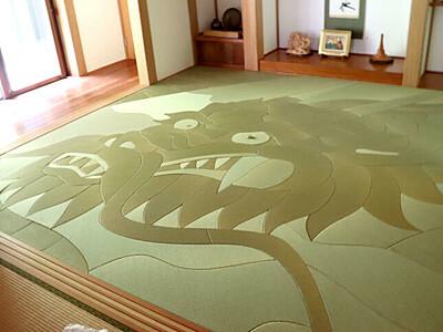 竜が躍動 大迫力のアート畳 加茂・本量寺